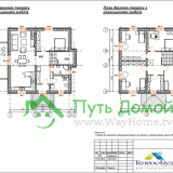 Планы индивидуального коттеджа с размещением мебели
