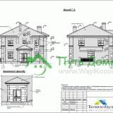 Фасады Индивидуального кирпичного дома