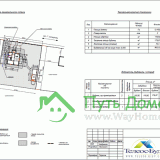 Генеральный план участка с размещением всех построек