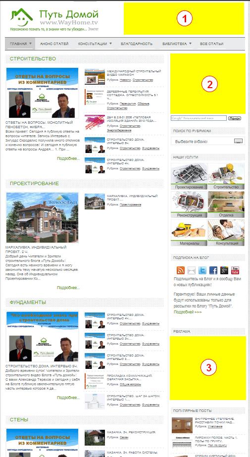 Реклама на строительном блоге
